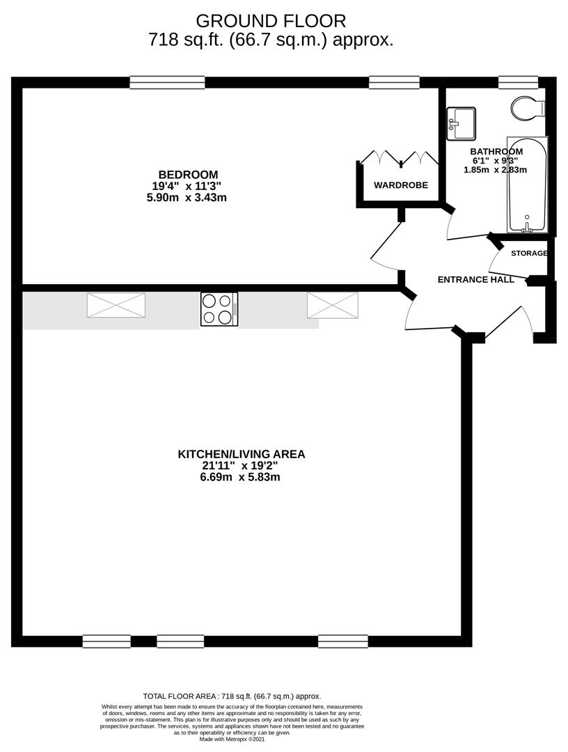 Floor plan St. Marys Street, Huntingdon